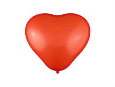Unprinted Balloons, Latex, Heart Shape, 30cm